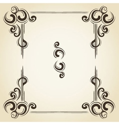 scroll collection 3 vector image vector image