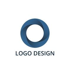 circle logo vector image vector image