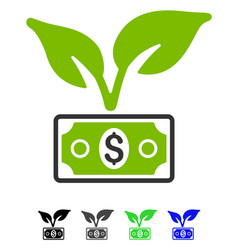 Eco startup gain flat icon vector
