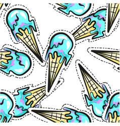 ice cream seamless pattern stocker pop art vector image