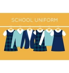 School Uniform for Children and Teenagers on vector image vector image