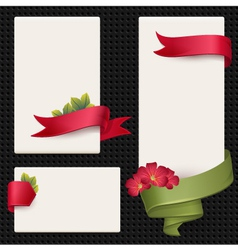 Set of elements for advertising vector image vector image