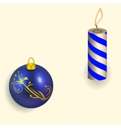 the Christmas candle and vector image vector image