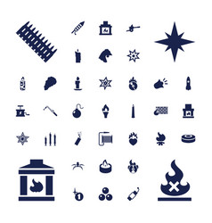 37 fire icons vector