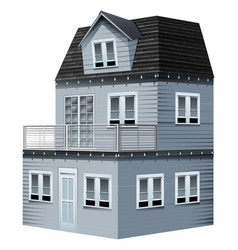 3d design for gray house vector image