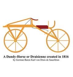 A dandy horse or draisienne created vector