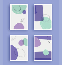 Abstract art painting with pastel colors vector