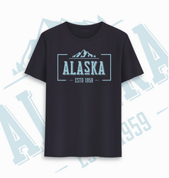 Alaska state graphic t-shirt design typography vector