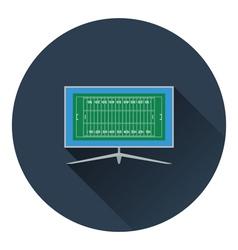 American football tv icon vector image