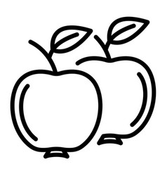 apples icon outline style vector image