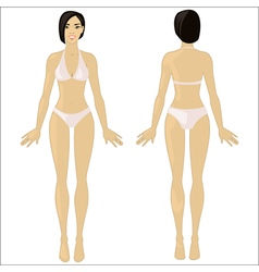 Asian woman in underwear vector image