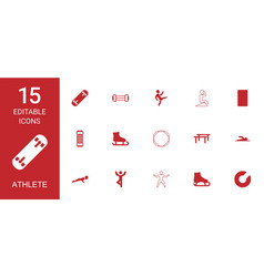 athlete icons vector image
