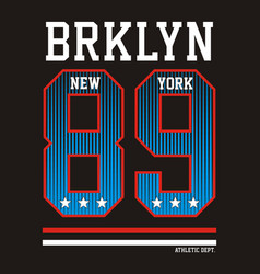 Athletic new york brooklyn vector