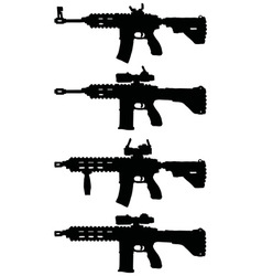 Automatic guns vector