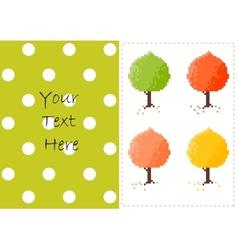 Autumn trees card vector image