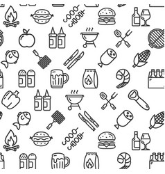 bbq party signs seamless pattern background on a vector image
