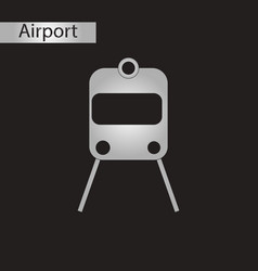 Black and white style icon train airport vector