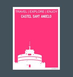 castel sant angelo rome italy monument landmark vector image