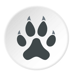 cat paw icon circle vector image vector image
