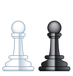 Chess pawns vector