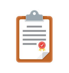 Clipboard document icon vector