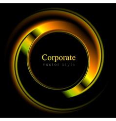 Colourful logo shape vector image
