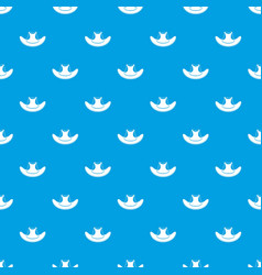 cowboy hat pattern seamless blue vector image