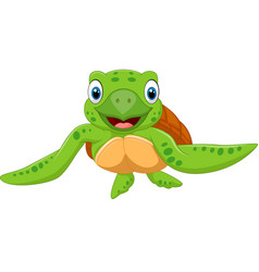 Cute baby turtle baby turt vector