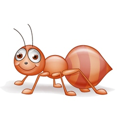 Cute Smile Ant Cartoon vector