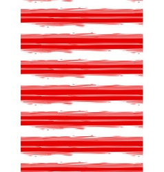 Distressed red and white stripe repeat pattern vector
