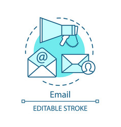 email turquoise concept icon vector image