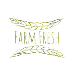 farm fresh label vector image