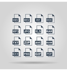 File Icons concept for design vector image