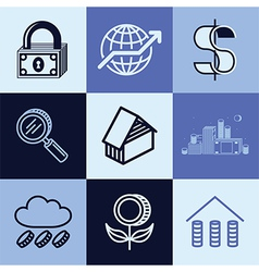 finances logo icons vector image