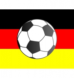 flag of Germany and soccer ball vector image vector image
