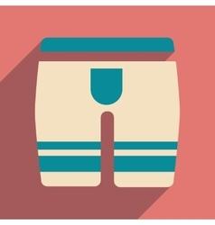 Flat icon with long shadow men underwear vector