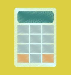 Flat shading style icon economy calculator vector