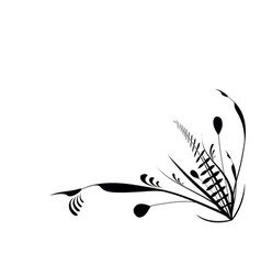 Flourish plants black vector