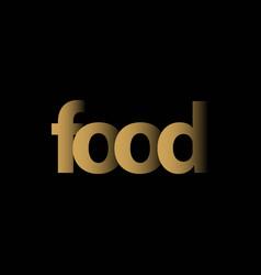 Food logo template design vector