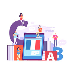 foreign language online learning people vector image