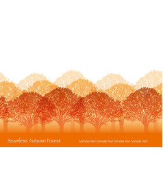 Forest 1 autumn vector
