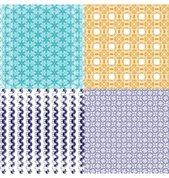 Geometric patterns tiling Set of abstract vintage vector image