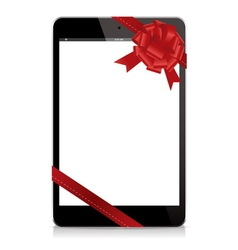 Gift tablet black phone vector