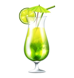 Green coctail vector