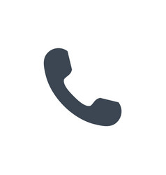 Handset related glyph icon vector