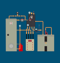 heat pump heating system vector image