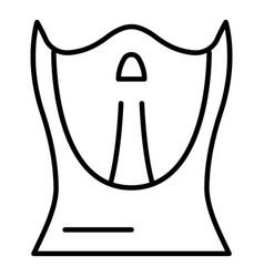 Hockey balaclava icon outline style vector