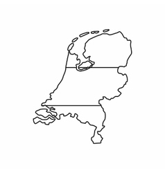 Holland map icon outline style vector
