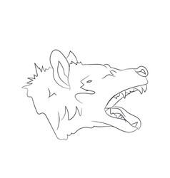 hyena portrait lines vector image