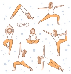 I love yoga vector